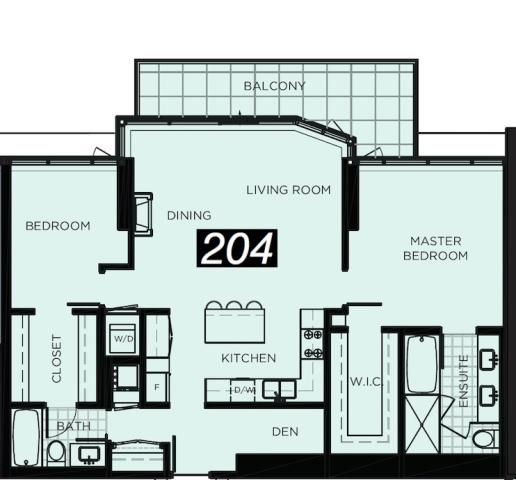 two bedrooms Cascade floor plans